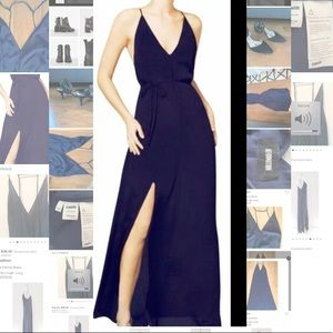 Reformation Navy Gown